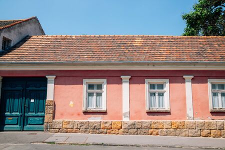 Old town pink house in Szentendre, Hungary