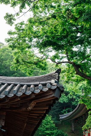 Goryeosan mountain Jeokseoksa temple in Ganghwa-gun, Incheon, Korea 스톡 콘텐츠 - 149901363