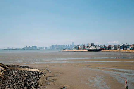 Oido sea and city view in Siheung, Korea