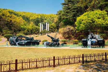 Cheonan, Korea-April 28, 2020: Taejosan memorial park 免版税图像 - 152496842