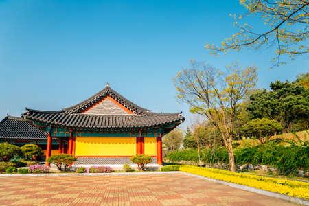 Cheonan, Korea-April 28, 2020: Yu Gwan-sun Memorial Hall 免版税图像 - 152496844
