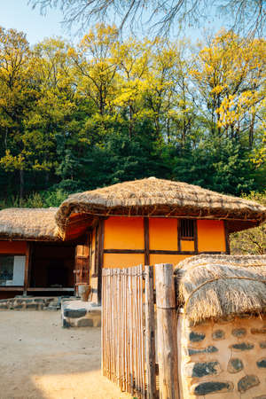 Cheonan, Korea-April 28, 2020: Yu Gwan-sun Historic Site. Yu Gwan-sun's birthplace. Korean traditional house 新闻类图片