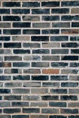 Vintage gray brick wall background