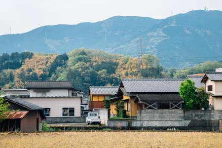 Japanese countryside village Uchiko town in Ehime, Shikoku, Japan