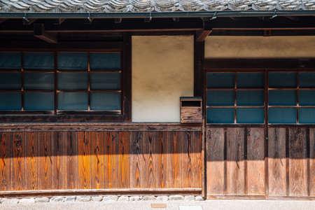 Japanese traditional wooden house at Uchiko town in Ehime, Shikoku, Japan 免版税图像 - 152585483