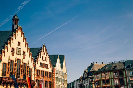 Romerberg old town square in Frankfurt, Germany Standard-Bild