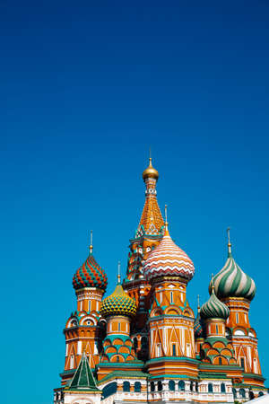 St. Basil's Cathedral on red square in Moscow, Russia 版權商用圖片