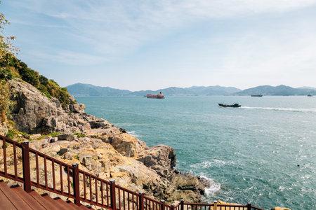 Odongdo Island sea and rock in Yeosu, Korea