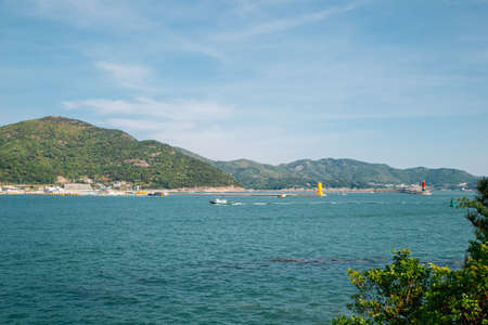 Seascape in front of Expo Park in Yeosu, Korea