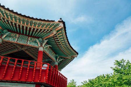 Jasan Park Korean traditional pavilion in Yeosu, Korea