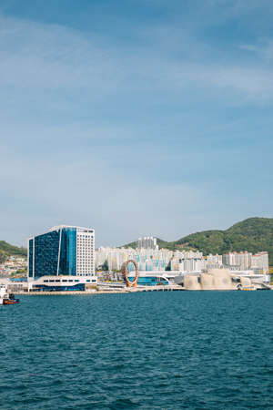 Yeosu Expo park and sea in Yeosu, Korea 免版税图像 - 168681291