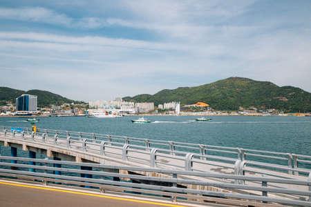 Yeosu Expo park and sea in Yeosu, Korea