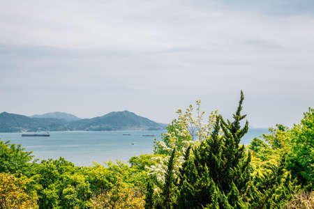 View of Seascape from Jasan Park in Yeosu, Korea