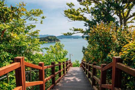 Odongdo Island and sea from Jasan Park in Yeosu, Korea