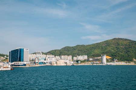 Yeosu Expo park and sea in Yeosu, Korea 免版税图像 - 168681455
