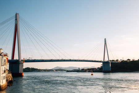 Dolsan bridge and sea in Yeosu, Korea