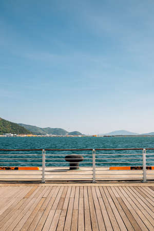 Yeosu Expo park and sea in Yeosu, Korea 免版税图像 - 168681598