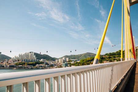 Geobukseon Bridge and sea village in Yeosu, Korea