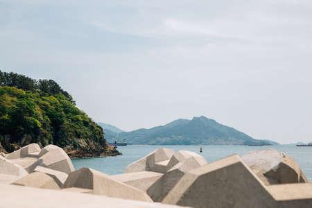 Odongdo Island and sea in Yeosu, Korea