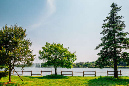 Ilsan Lake Park in Goyang, Korea