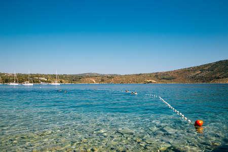 Adriatic beach in Primosten, Croatia