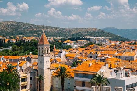 Panoramic view of Trogir old town in Croatia 免版税图像