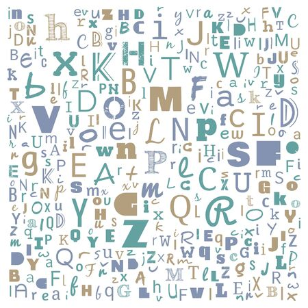 A to Z word cloud, multicolor Alphabet word cloud, t-shirt and shirt print design, Bunche of Alphabet random place art, background for website or web-page, illustration. Stock fotó