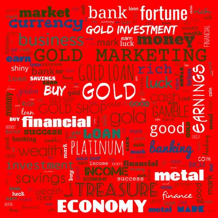 gold word cloud, text, word cloud use for banner, painting, motivation, web-page, website background, t-shirt & shirt printing, poster, gritting, wallpaper (illustration) Stock Photo