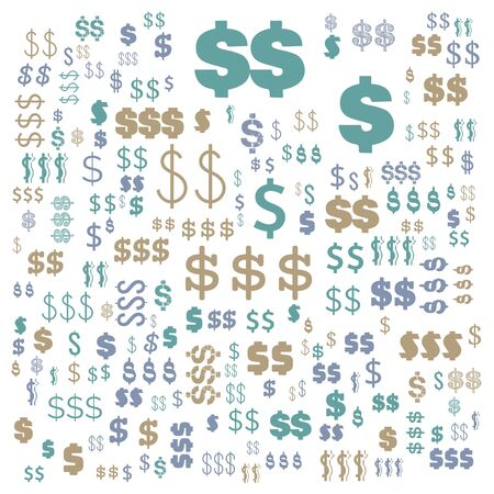 dollar currency word cloud, text cloud, word cloud use for banner, painting, motivation, web-page, website background, t-shirt & shirt printing, poster, gritting (illustration)