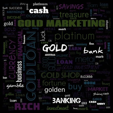 gold word cloud, text, word cloud use for banner, painting, motivation, web-page, website background, t-shirt & shirt printing, poster, gritting, wallpaper (illustration) Stock fotó