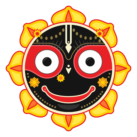 Jagannath, Indian God of the Universe, Lord Jagannatha, Jagannath Puri, Odisha - stock vector Illustration