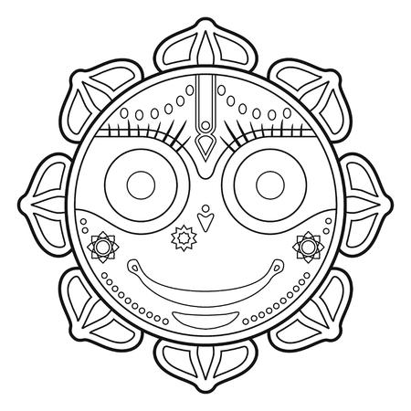 Jagannath, Indian God of the Universe, Lord Jagannatha, Jagannath Puri, Odisha -stock vector Illustration