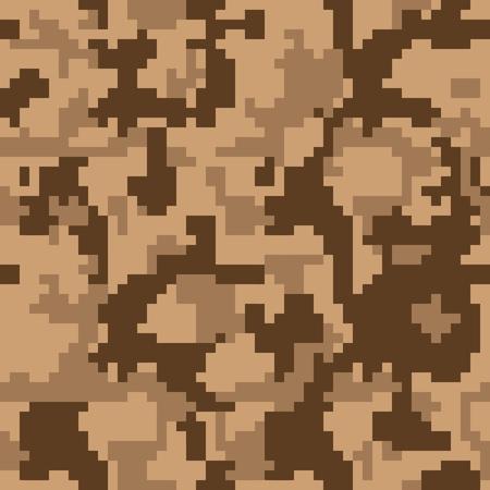 Digitale pixel camouflage naadloze patroon voor uw ontwerp. Vector textuur