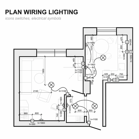 Plan wiring lighting electrical schematic interior set of standard electrical schematic interior set of standard icons electrical symbols for malvernweather Choice Image