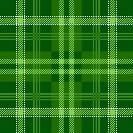 Plaid (tartan) seamless pattern. Green color. Scottish, lumberjack and hipster fashion style. Trendy Tiles Vector Illustration for Wallpapers. Illustration