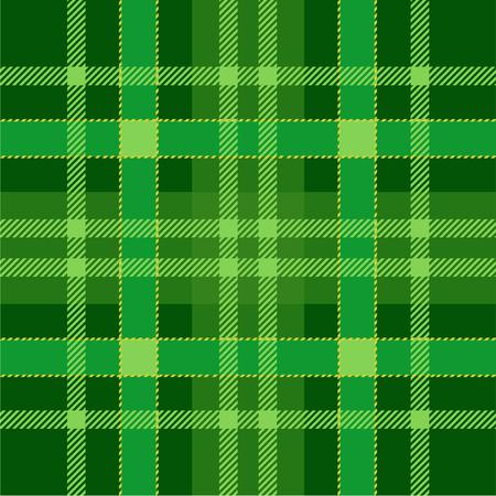격자 무늬 타탄 원활한 패턴 배경. 녹색 전통 스코틀랜드 장식품입니다. 원활한 타탄 타일. 배경 화면에 대한 트렌디 한 벡터 일러스트.