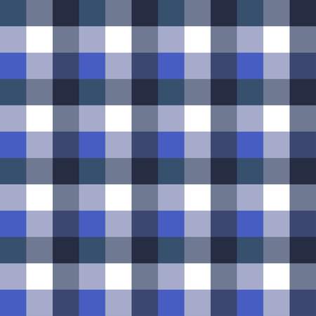 Scottish seamless tartan plaid. Retro square tablecloth pattern. Texture with blue colors, vector background design for fabric and decor Çizim