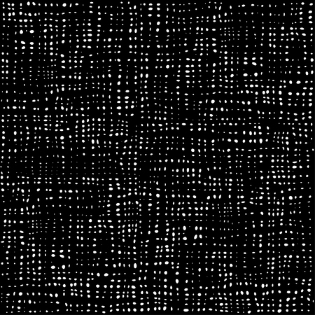 Black and white dots pattern, textile background, cotton seamless texture. Fabric textile material. Rag Rural backdrop. Vector. Çizim