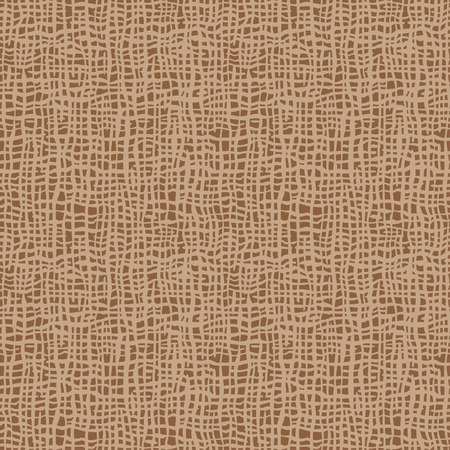Burlap texture. Brown fabric. Canvas seamless background pattern. Cloth linen sack backdrop. Vintage rustic style for posters, banners, retro designs. Vector