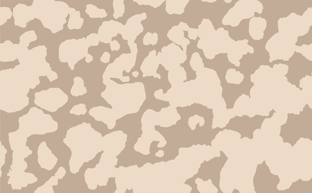 Abstract vector military camouflage background. Seamless Camo Pattern for Army Clothing. Beige, brown color texture