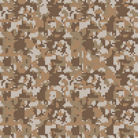 Digital pixel camouflage seamless pattern for your design. Vector Texture