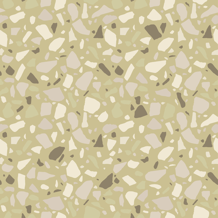 Terrazzo seamless pattern. Tile with pebbles and stone. Abstract texture background for wrapping paper, wallpaper, terrazzo flooring.