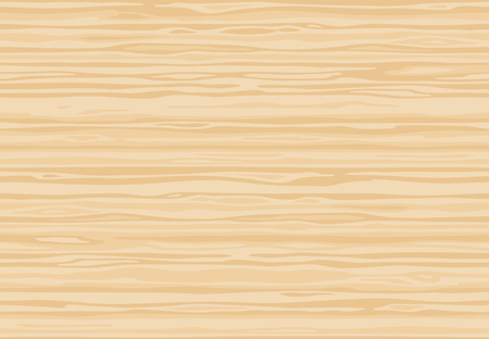 Natural light beige wooden plank, table or floor surface. Cutting chopping board. Carthoon wood texture, vector seamless background.