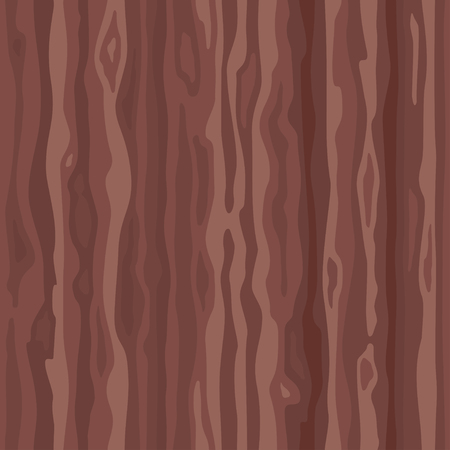 Brown red wood surface with fiber. Natural wenge texture, seamless background. Vector illustration