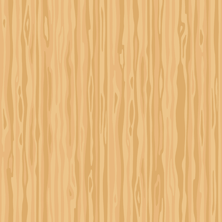 Light beige wood grain texture. Dense lines. Seamless background. Empty natural pattern swatch template. Realistic plank. Vector illustration Illustration
