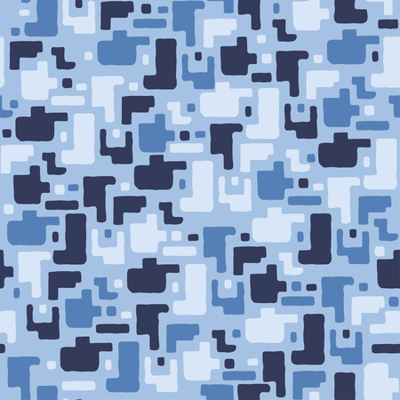 Camouflage pattern background, seamless vector illustration. Classic military clothing style.