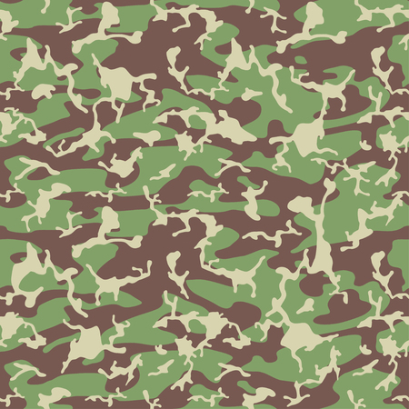 Seamless pattern. Abstract military or hunting camouflage background. Brown, green color.