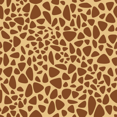 Giraffe texture pattern seamless repeating orange and yellow, safari, zoo, jungle background. Vector Foto de archivo - 109807100