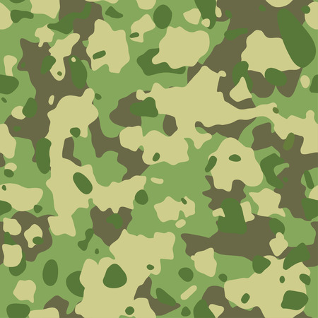 Seamless army camouflage pattern. Military texture. Green, brown. forest, soldier camo background. fabric textile print designs. Stock Illustratie