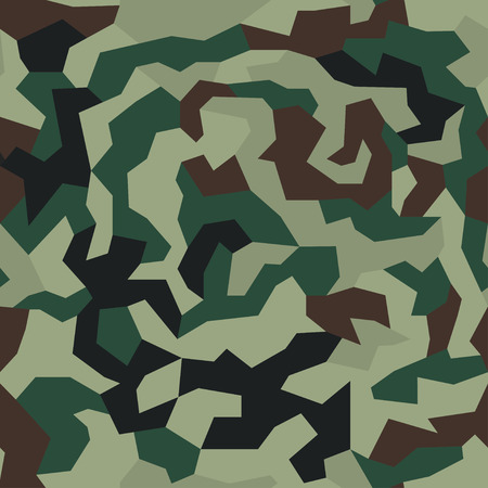 Camouflage with geometric pattern, seamless texture. Abstract trendy wallpaper in military style. Green khaki color background.